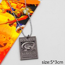 One Piece Chopper wanted anime necklace