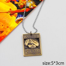 One Piece Sanji wanted anime necklace