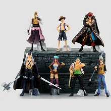 One Piece anime figures set(7pcs a set)