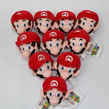 3.2inches Super Mario anime plush dolls set(10pcs a set)