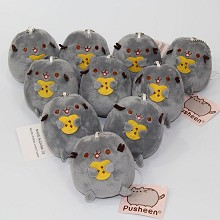 4inches Pusheen the cat anime plush dolls set(10pc...