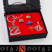 DAOTA 2 key chain+necklace+rings set(6pcs a set)