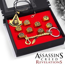 Assassin's Creed key chain+necklace+rings set(10pcs a set)