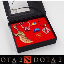 DOTA key chain+necklace+rings set(6pcs a set)