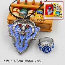 Warcraft necklace+ring set(2pcs a set)