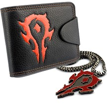Warcraft wallet+necklace