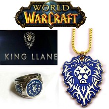 Warcraft ring+necklace