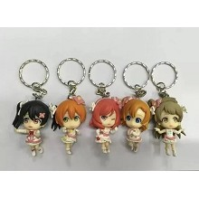 Lovelive anime figure key chains set(5pcs a set)