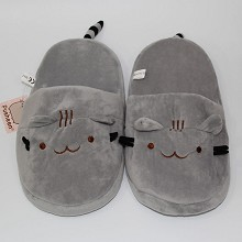 Pusheen the cat plush slippers shoes a pair