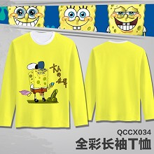 Spongebob anime long sleeve thin t-shirt