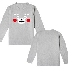 Kumamon long sleeve cotton t-shirt