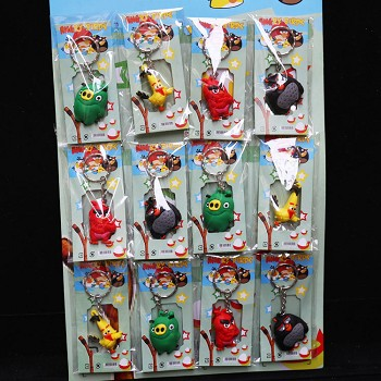 Angry Birds anime key chains set(12pcs a set)