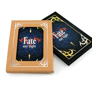 Fate anime hard cover notebook