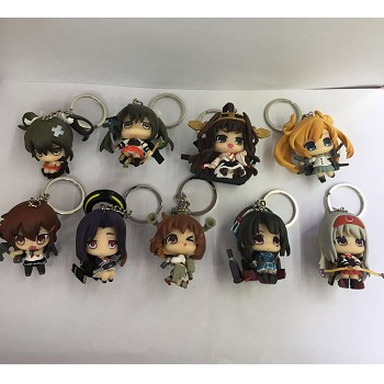 Collection anime figure key chains set(9pcs a set)