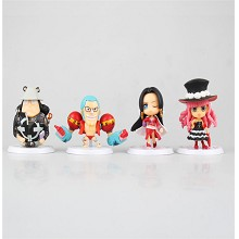 One Piece anime figures set(4pcs a set)