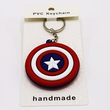 Captain America two-sided key chain