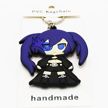 Black rock shooter two-sided key chain