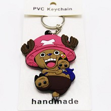 One Piece Chopper anime two-sided key chain