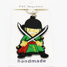 One Piece Zoro anime two-sided key chain