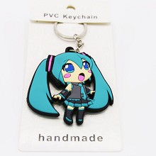 Hatsune Miku anime two-sided key chain