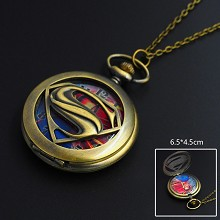 Super Man necklace pocket watch
