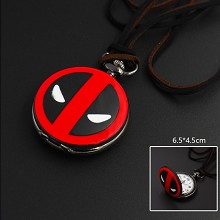 Deadpool necklace pocket watch