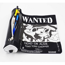 One Piece Chopper wanted anime pen bag