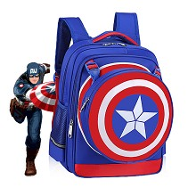 Captain America backpack school bag(blue)