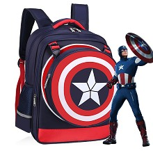 Captain America backpack school bag(black)