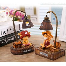 One Piece Chopper and Luffy figures desk lamp set(...