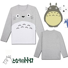 TOTORO anime long sleeve cotton t-shirt