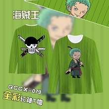 One Piece Zoro anime long sleeve t-shirt
