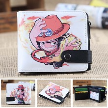 One Piece ACE anime wallet