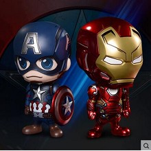 Captain America & Iron man figures set(2pcs a set)