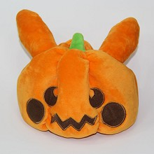 Pumpkin plush hat
