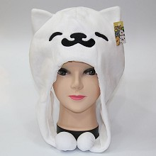 Neko Atsume plush hat(white)