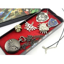 The Legend of Zelda  pocket watch+pin+ring+necklaces