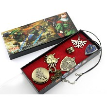 The Legend of Zelda  pocket watch+pin+ring+necklac...