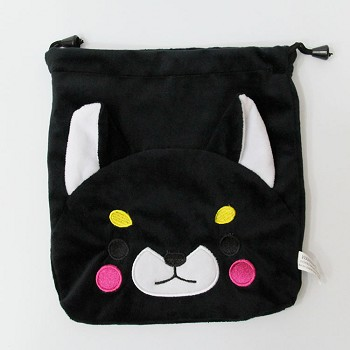 The dog plush drawing bag