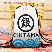 Gintama anime drawstring backpack bag
