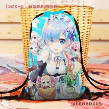 Re:Life in a different world from zero Rem drawstring backpack bag