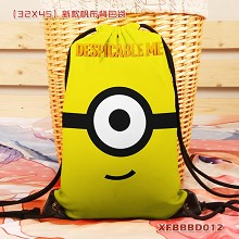 Despicable Me anime drawstring backpack bag