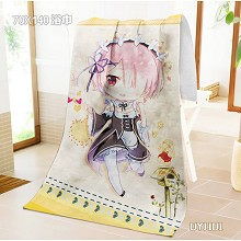 Re:Life in a different world from zero Rem Collection bath towel(700X1400mm)