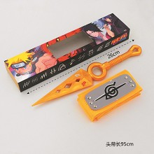 Naruto cos yellow headband+gold weapon a set