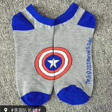 Captain America cotton socks a pair