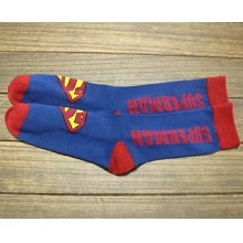 Super man cotton long socks a pair