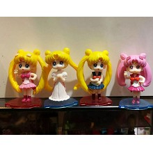 Sailor Moon anime figures set(4pcs a set)