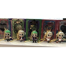 Suicide Squad figures key chains set(5pcs a set)