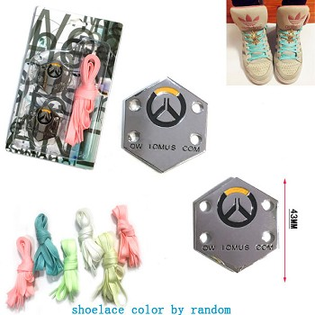 Overwatch shoes 2 buckles and 2 shoelaces a set