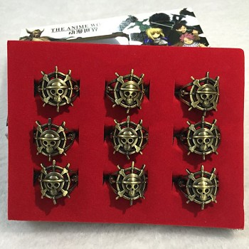 One Piece anime rings set(9pcs a set)